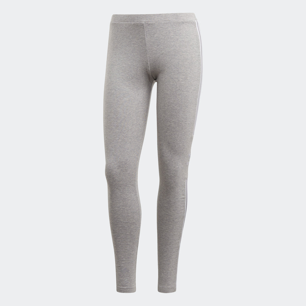 Women's adidas Originals Trefoil 3-Stripes Leggings Grey