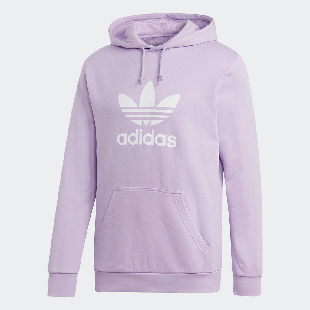 super cute e3b1a 5359f Mens adidas Originals Trefoil Hoodie Purple Glow