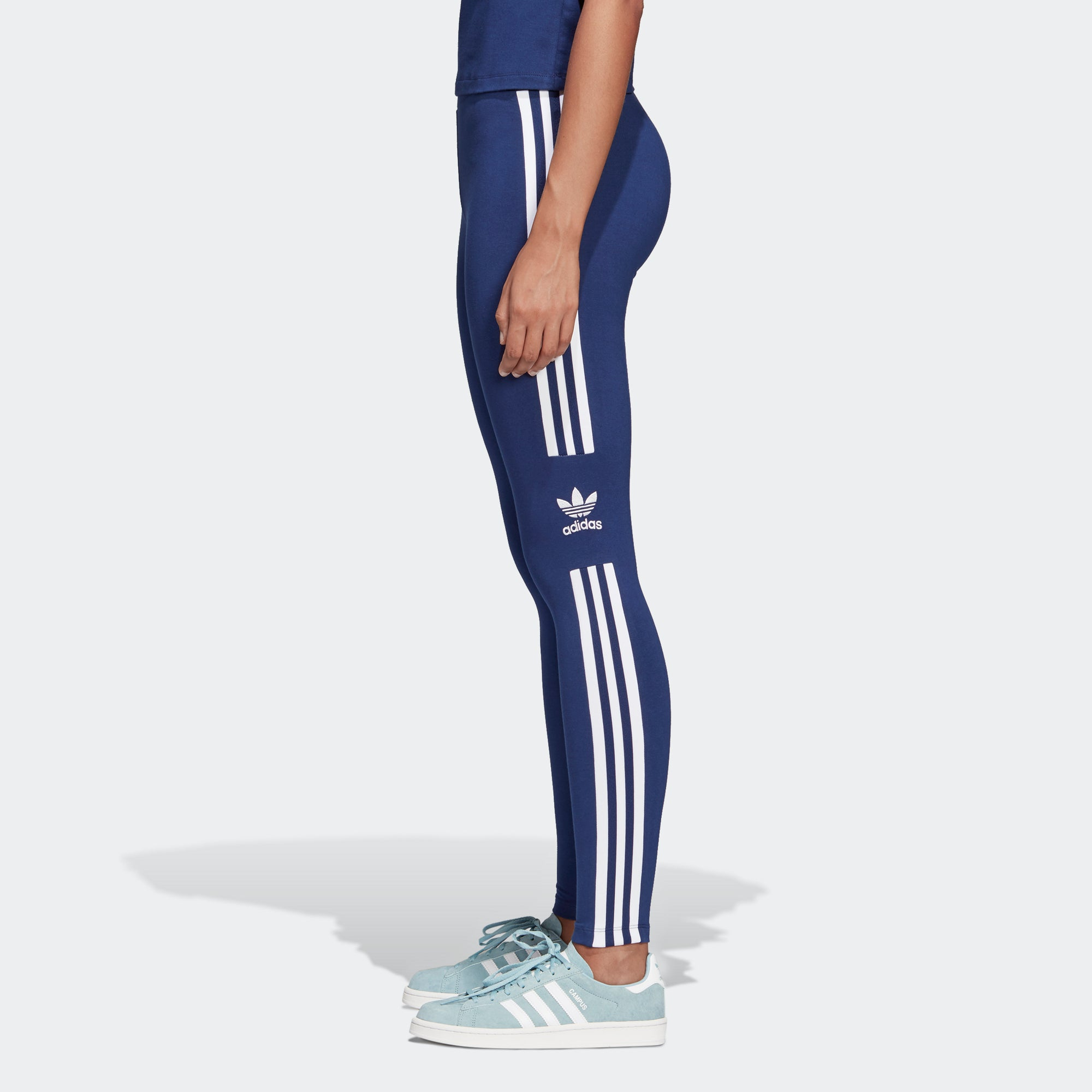 64e806bbe325f adidas Trefoil Leggings Dark Blue DV2634 | Chicago City Sports