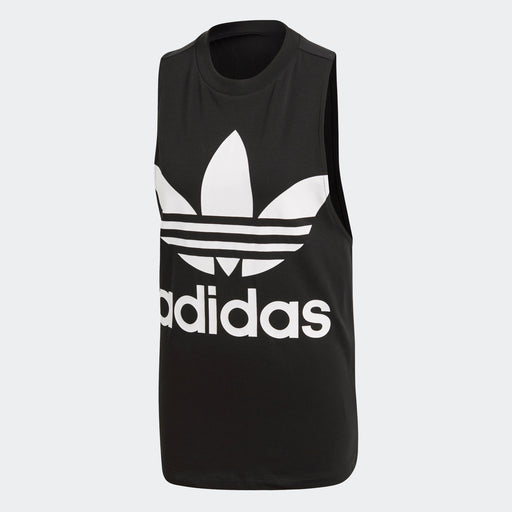 Women's adidas Originals Trefoil Tank Top Black with White