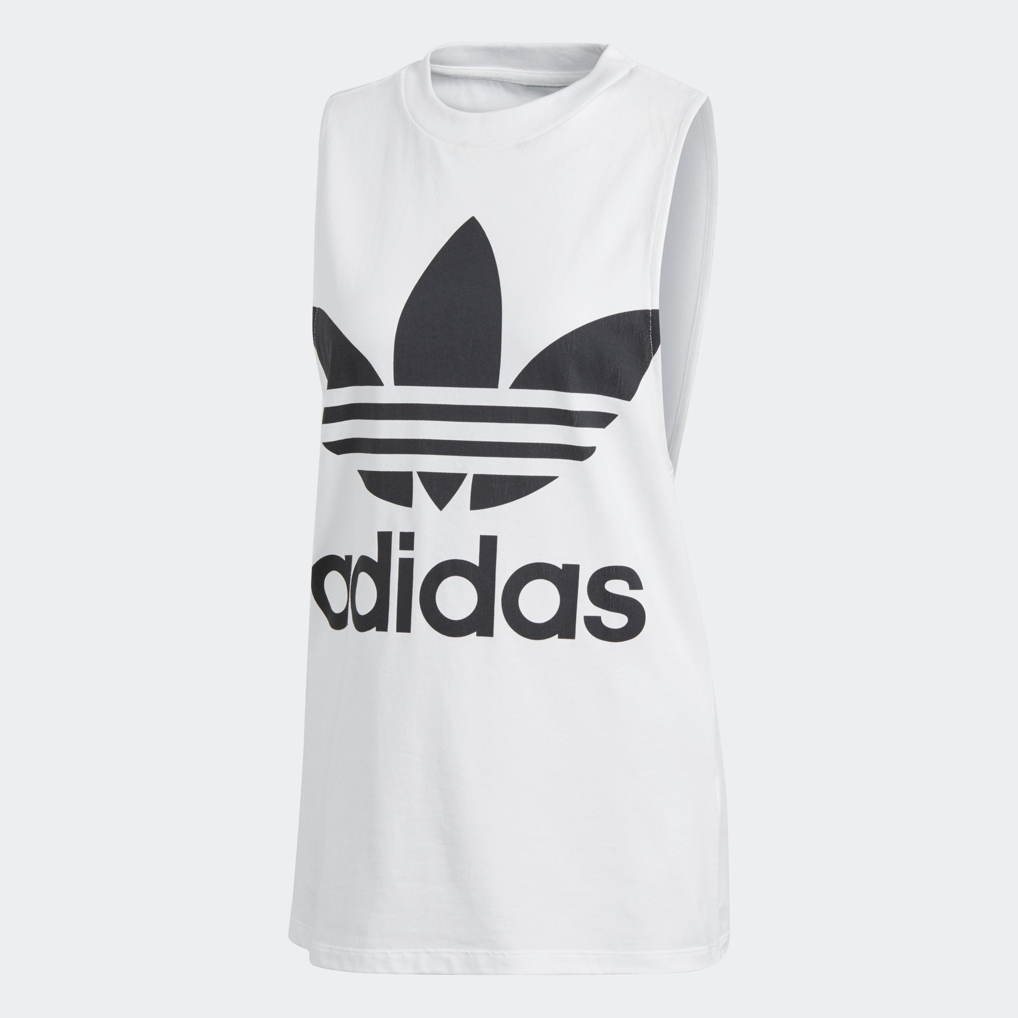 e3483c8fc74d8c Women s adidas Originals Trefoil Tank Top White with Black CE5580 ...