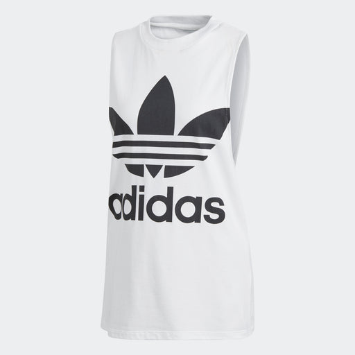 Women's adidas Originals Trefoil Tank Top White with Black