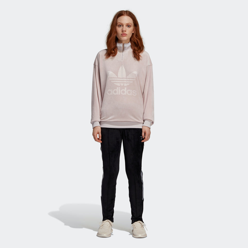Women's adidas Originals Zip Sweatshirt Ice Purple
