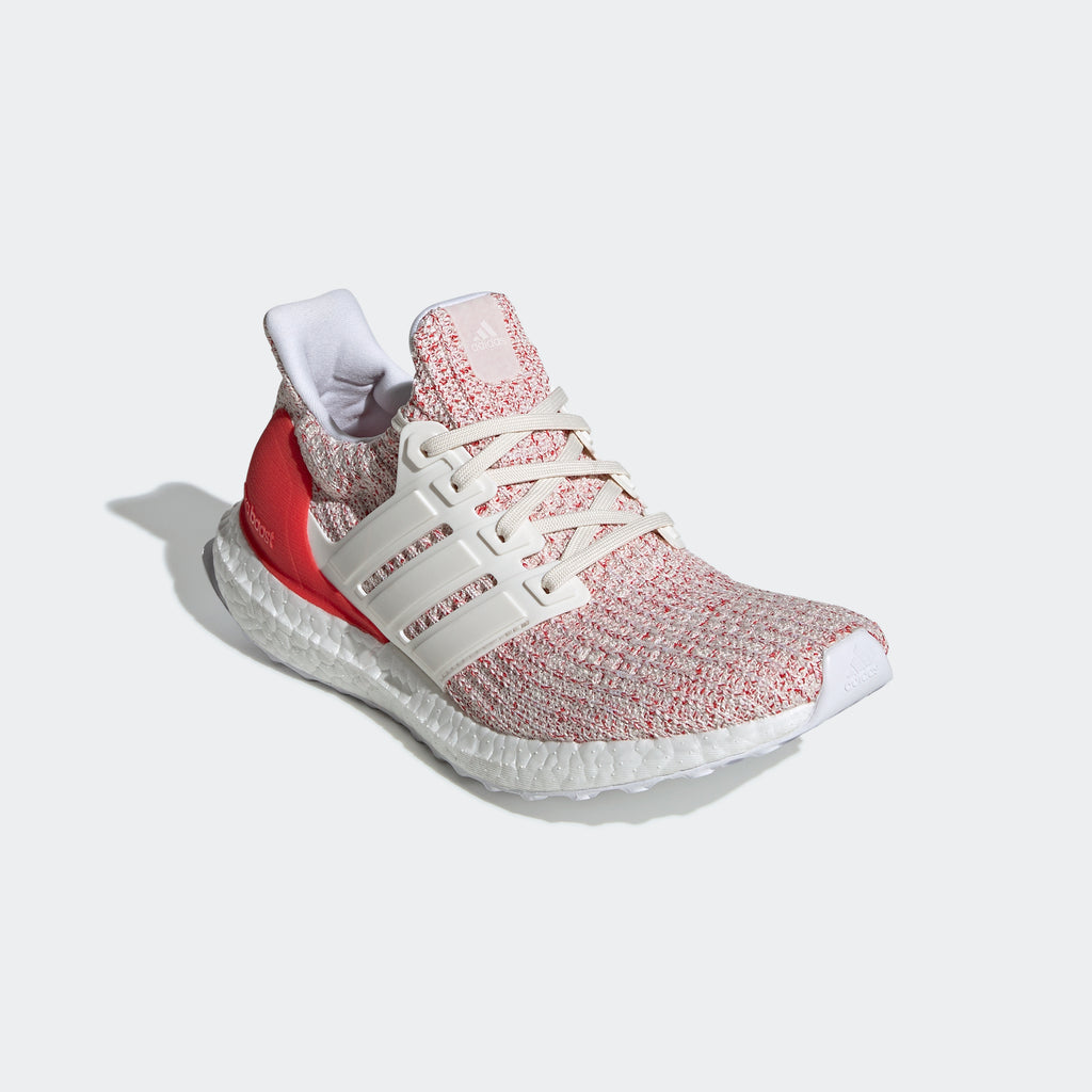 Women's adidas Running Ultraboost Shoes Chalk White Red