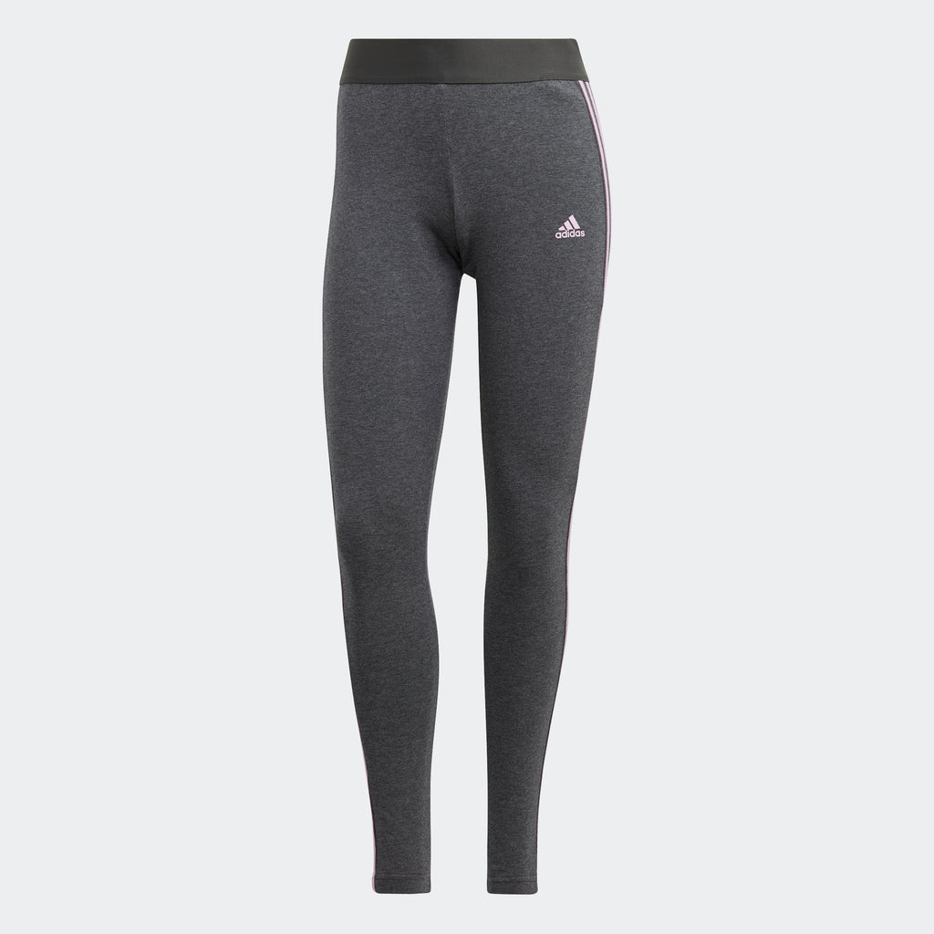 Women's adidas Essentials Leggings Grey GV6016 | Chicago City Sports | front view