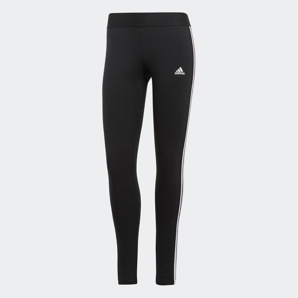 Women's adidas Essentials Loungewear 3-Stripes Leggings Black GL0723 | Chicago City Sports | front view