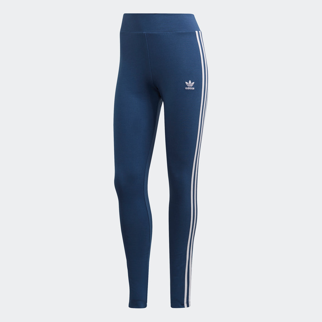 Women's adidas Originals Adicolor 3-Stripes Leggings Night Marine FM3286 | Chicago City Sports | front view