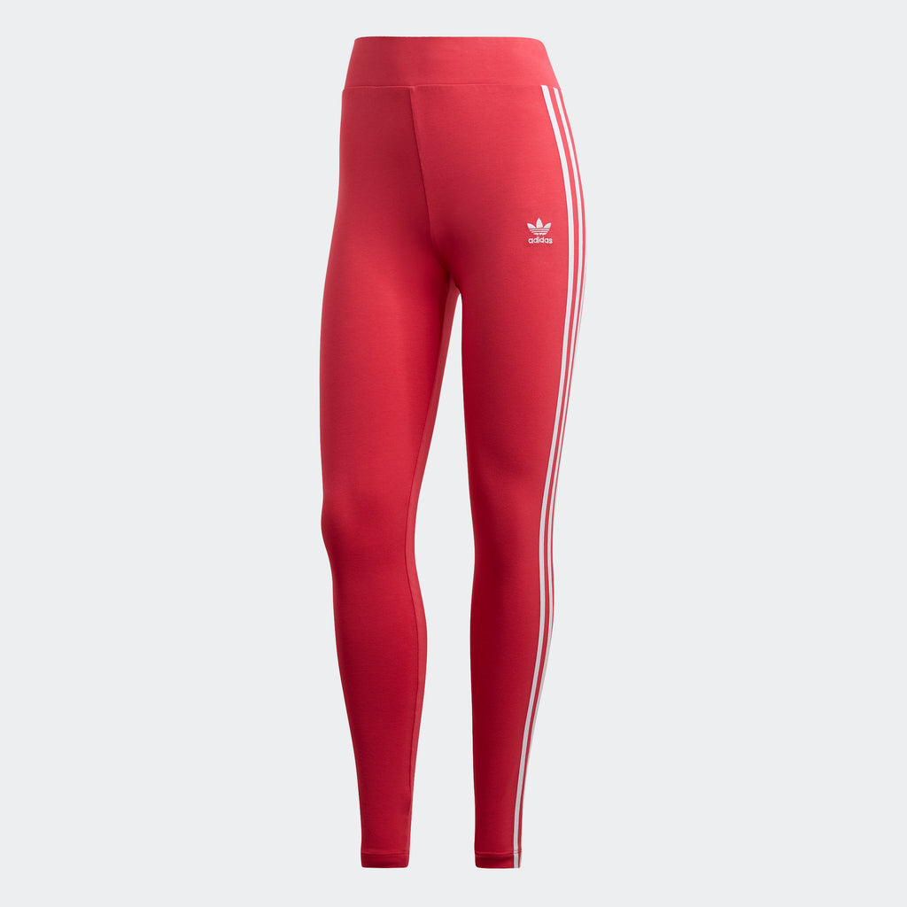 Women's adidas Originals Adicolor 3-Stripes Leggings Power Pink GD2369 | Chicago City Sports | front view