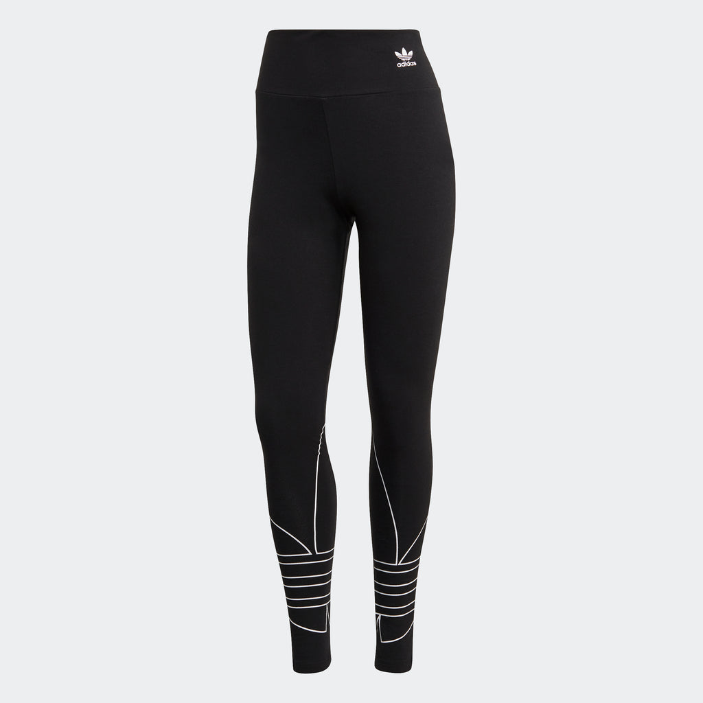 Women's adidas Originals Adicolor Large Logo Leggings Black GD2252 | Chicago City Sports | front view