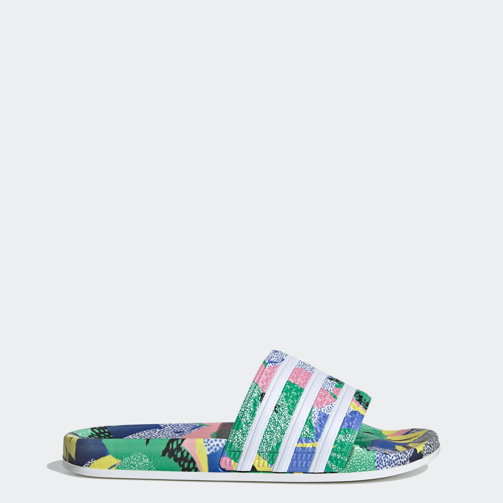 Women's adidas Originals Adilette Slides HER Studio London FW2529 | Chicago City Sports | side view