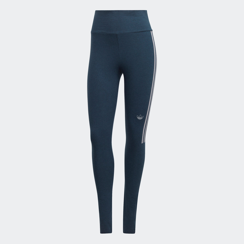 Women's adidas Fakten Leggings Crew Navy GN4400 | Chicago City Sports | front view