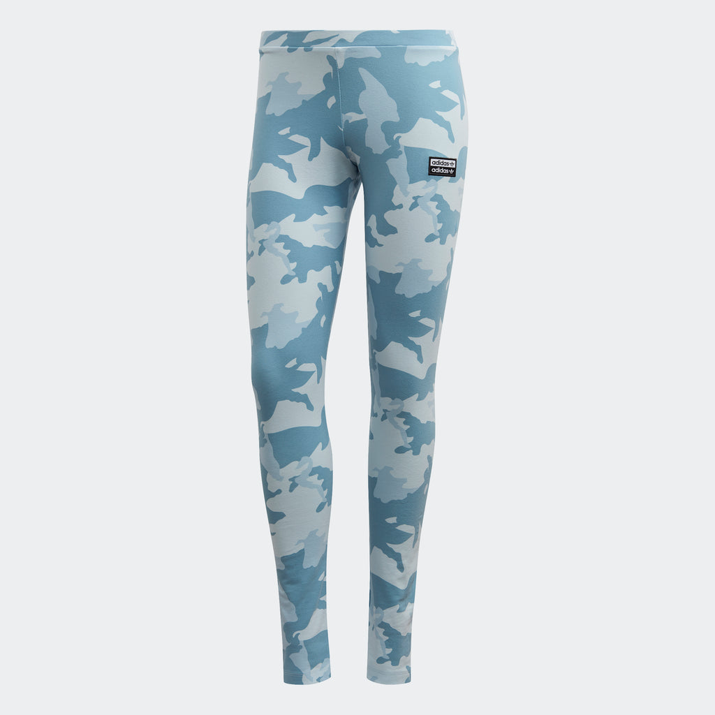 Women's adidas Leggings Sky Tint Camo FM2494 | Chicago City Sports | front view