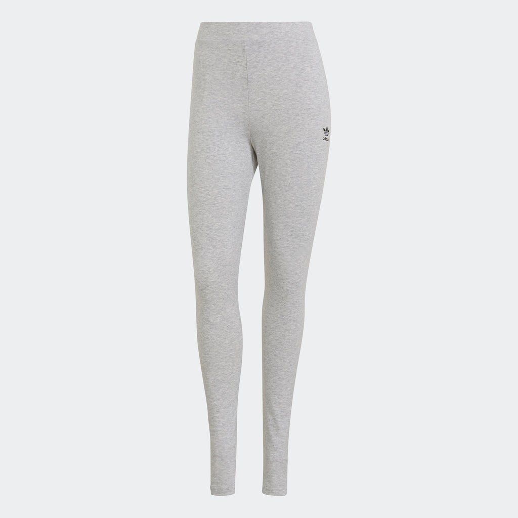 Women's adidas Originals Loungewear Leggings Grey GN8270 | Chicago City Sports | front view