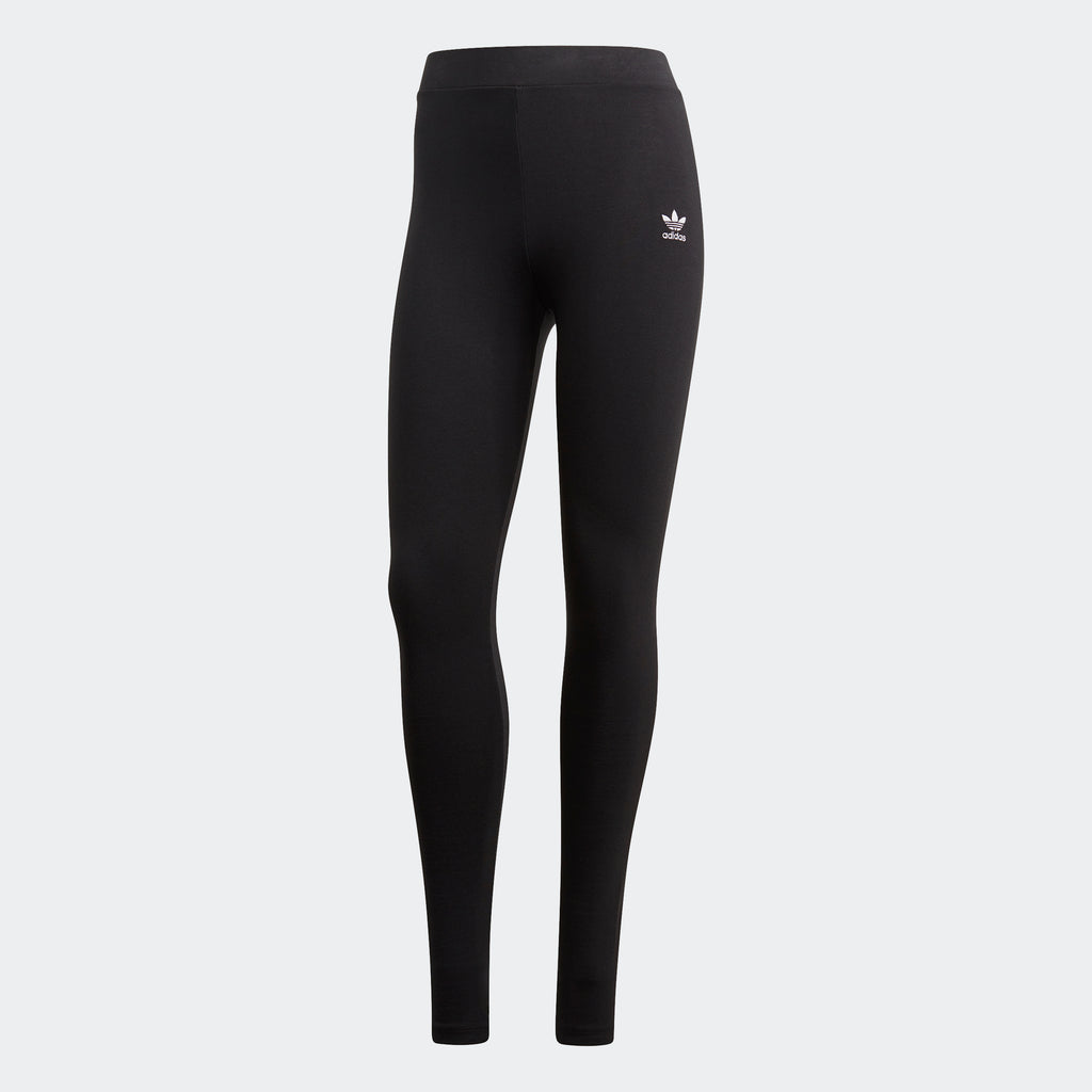 Women's adidas Mid-Rise Leggings Black GD4363 | Chicago City Sports | front view
