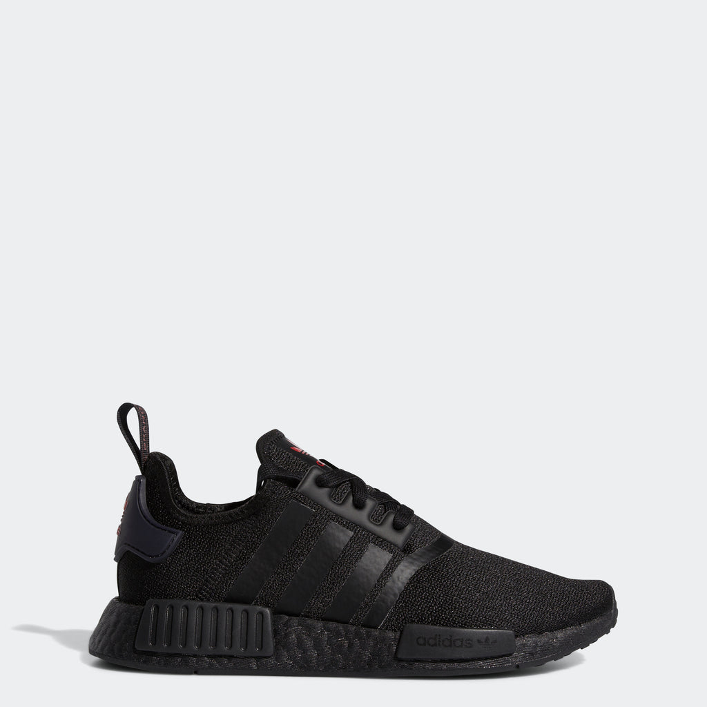 Women's adidas Originals NMD_R1 Shoes Black Scarlet