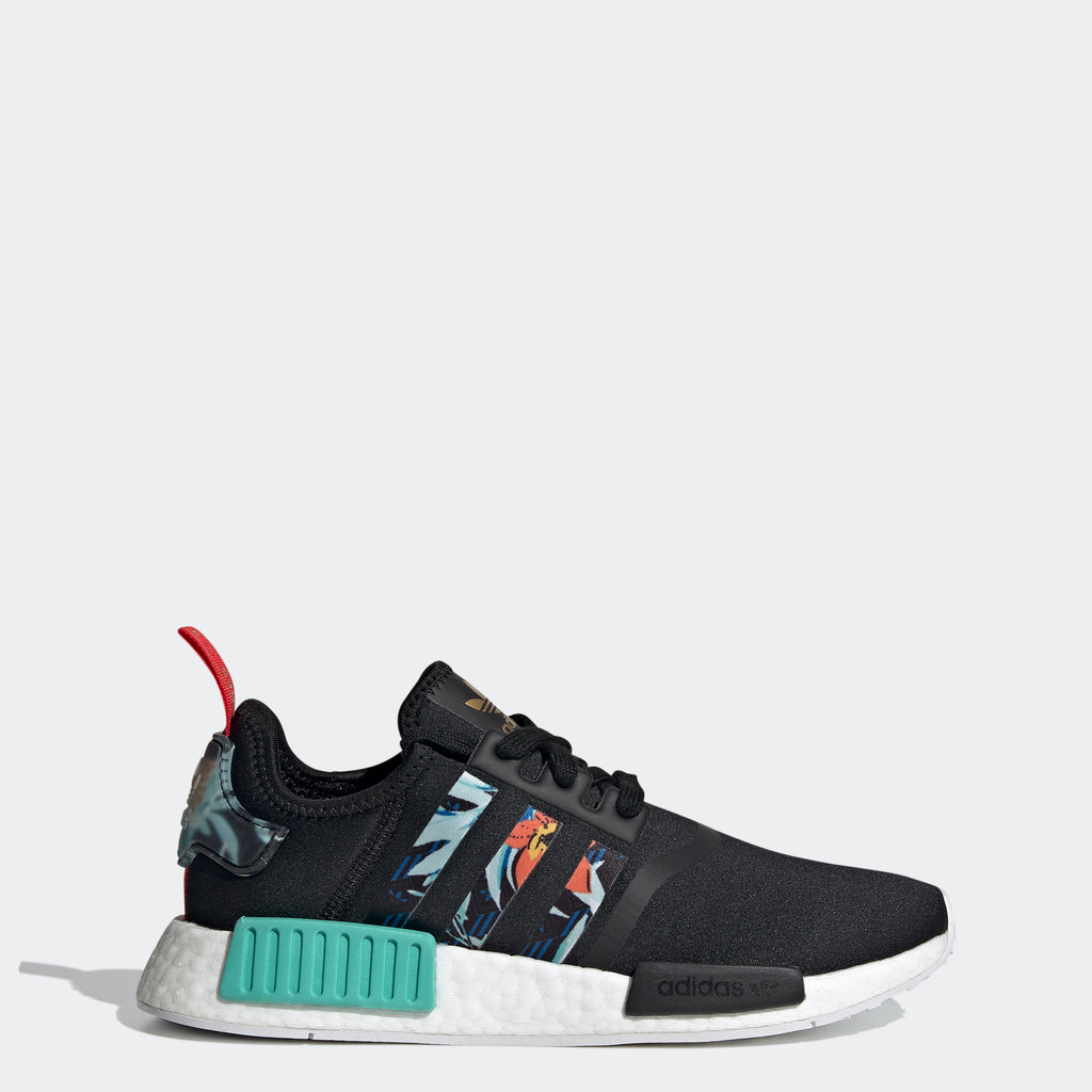 Women's adidas NMD_R1 Shoes Black FY3665 | Chicago City Sports | side view