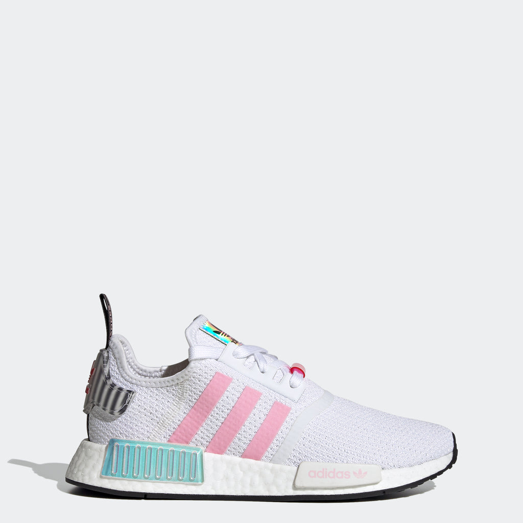 Women's adidas NMD_R1 Shoes White FZ3777 | Chicago City Sports | side view