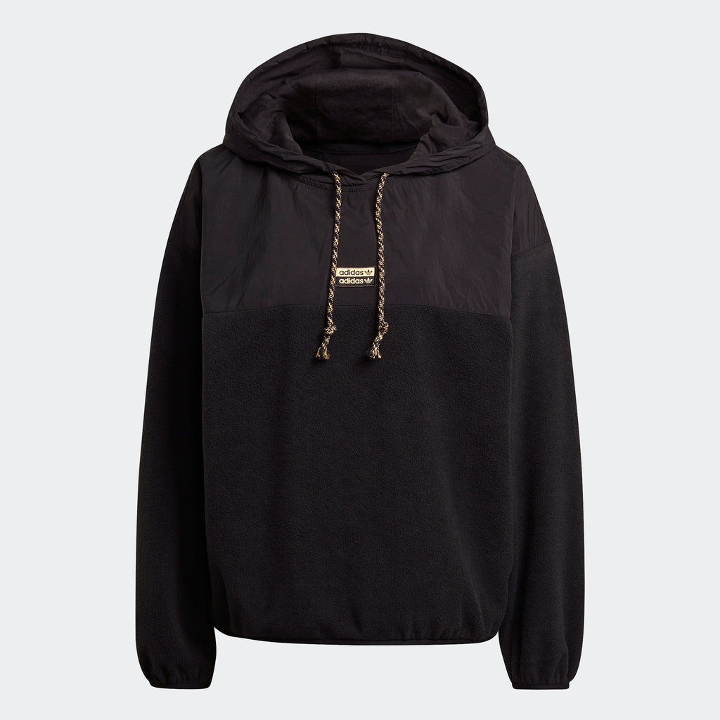 Women's adidas Originals R.Y.V. Hoodie Black GN4250 | Chicago City Sports | front view