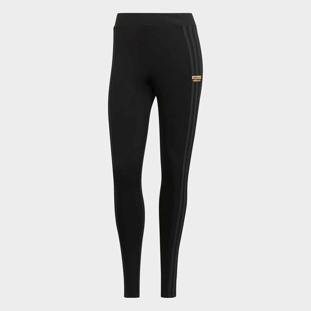 Women's adidas Originals R.Y.V. Leggings Black GN4233 | Chicago City Sports | front view