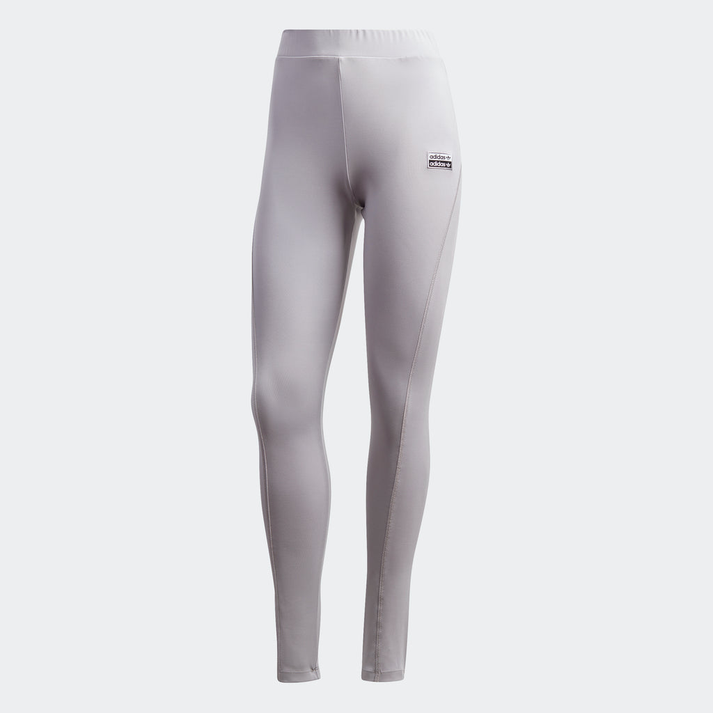 Women's adidas Originals R.Y.V. Leggings Glory Grey GK0695 | Chicago City Sports | front view