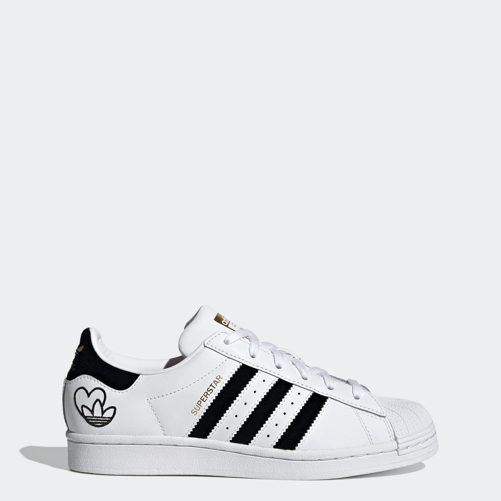 Women's adidas Superstars White Heart FY4755 | Chicago City Sports | side view