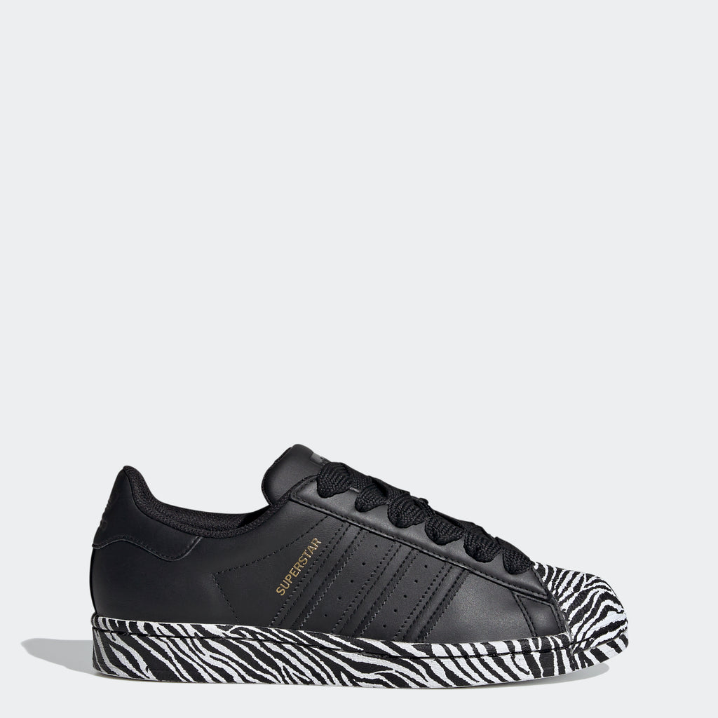 Women's adidas Originals Superstar Shoes Zebra