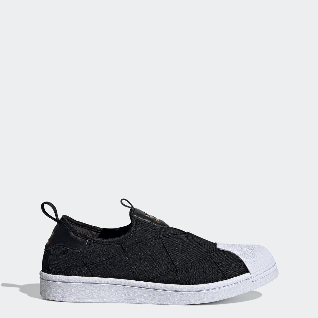Women's adidas Originals Superstar Slip-On Shoes Black FV3187 | Chicago City Sports | side view