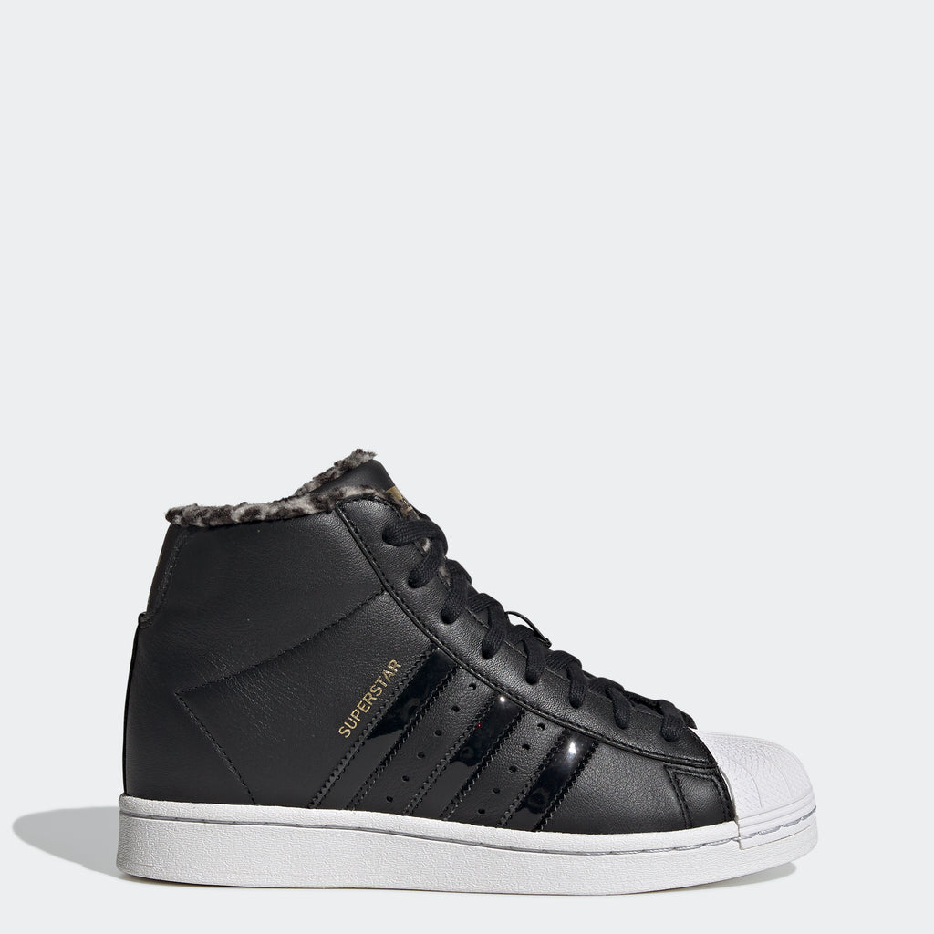 Women's adidas Originals Superstar Up Shoes Black FY4794 | Chicago City Sports | side view