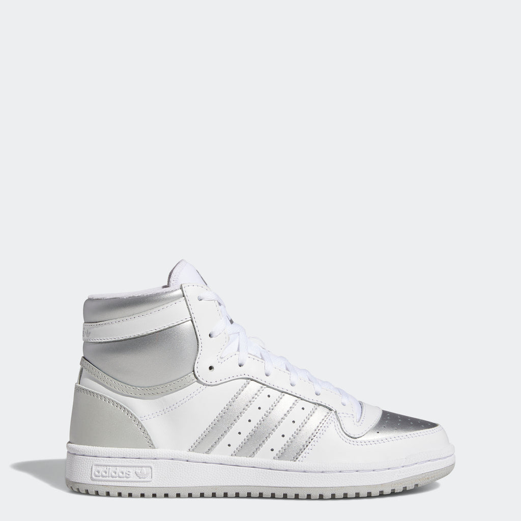 Women's adidas Top Ten RB Shoes White FX8524 | Chicago City Sports | side view