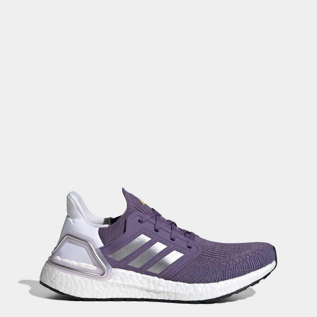 Women's adidas Running Ultraboost 20 Shoes Tech Purple (SKU EG0718) | Chicago City Sports | side view