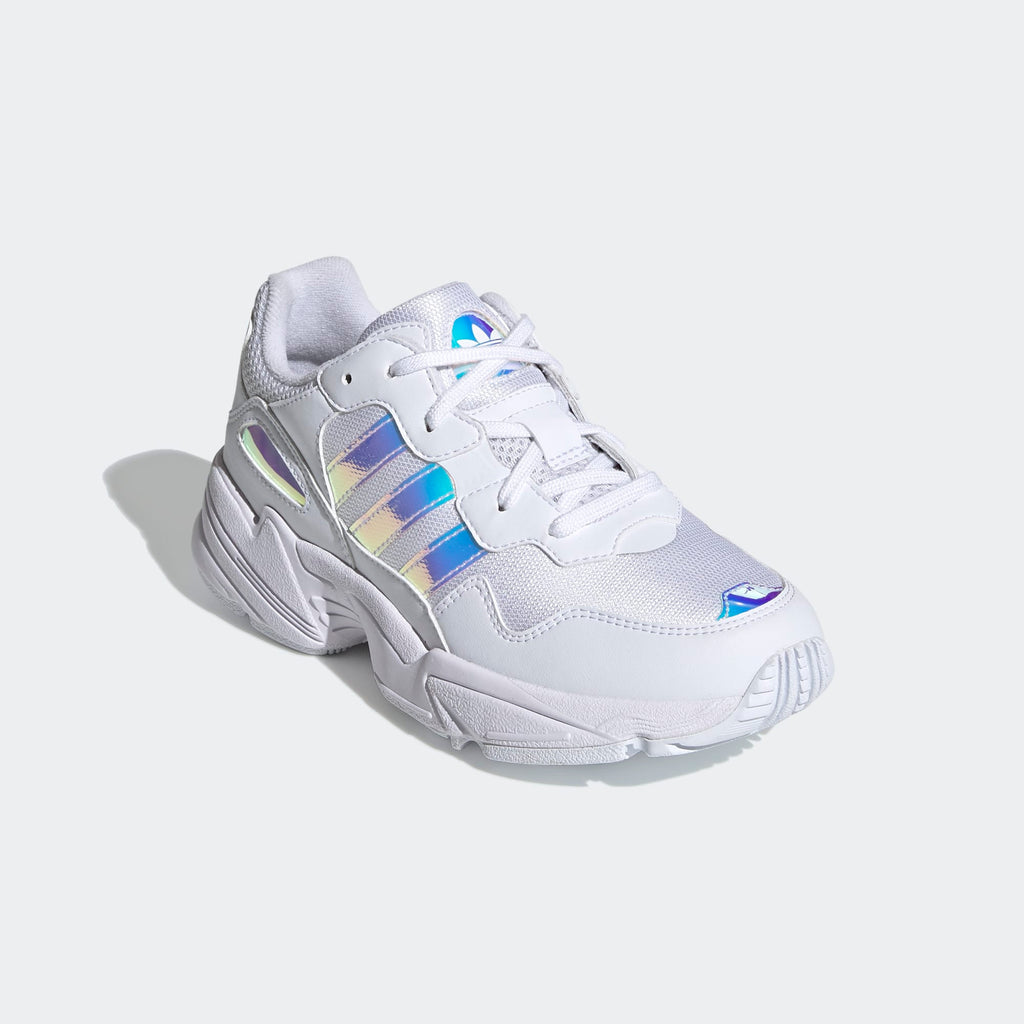 Kid's adidas Originals Yung-96 Shoes Cloud White Iridescent