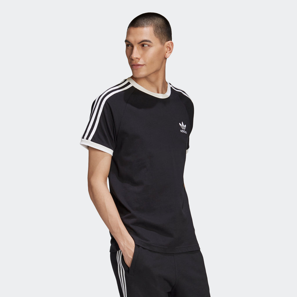 Men's adidas Originals 3-Stripes Tee Black