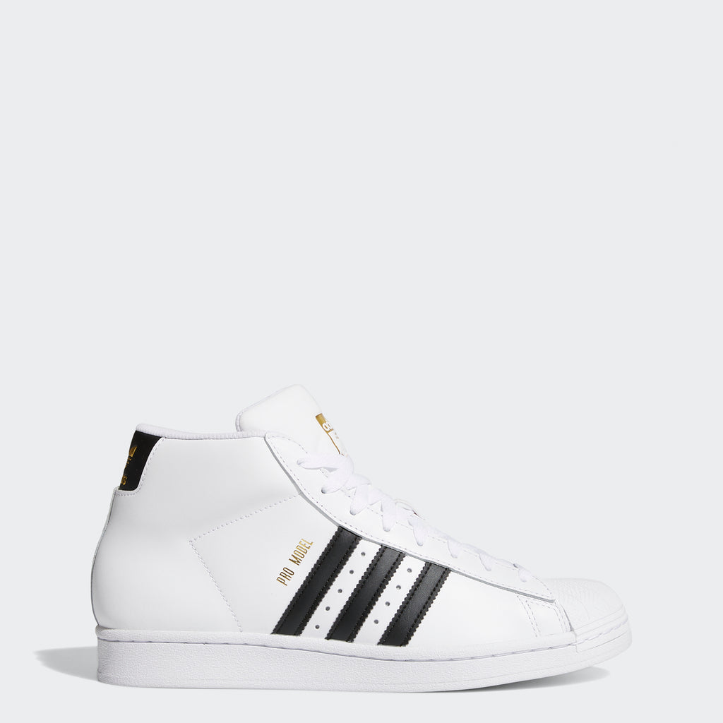 Men's adidas Pro Model Shoes White Black FV5722 | Chicago City Sports | side view