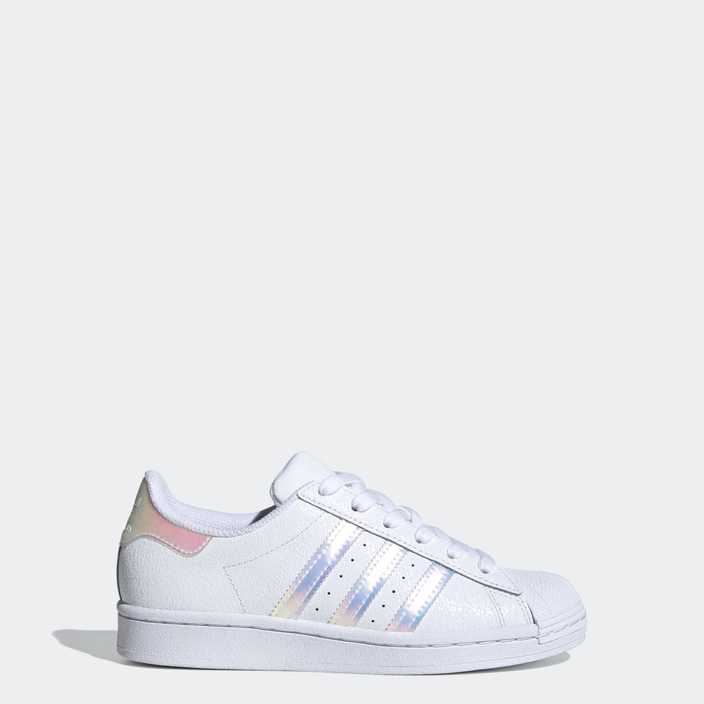 Kids' adidas Superstar Shoes Cloud White FW0813 | Chicago City Sports | side view