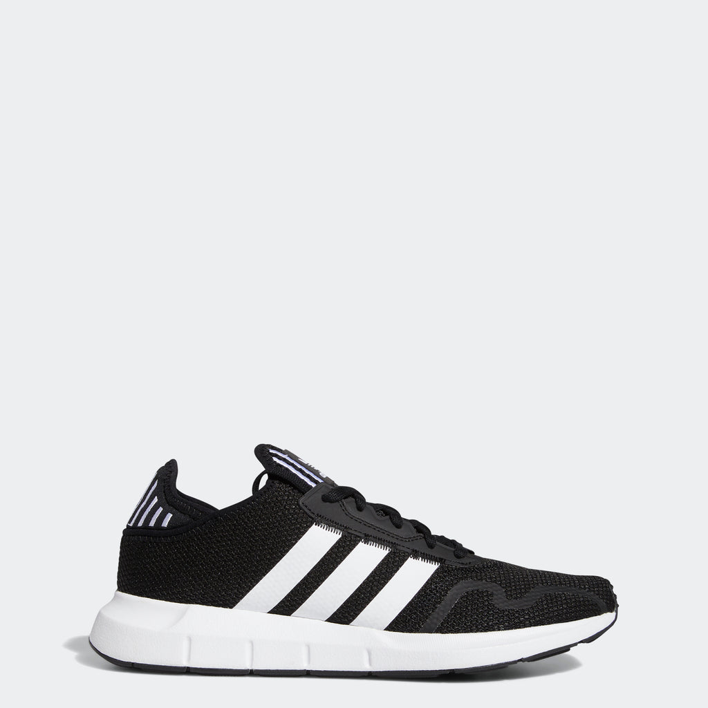 adidas Swift Run X Shoes Black White FY2110 | Chicago City Sports | side view