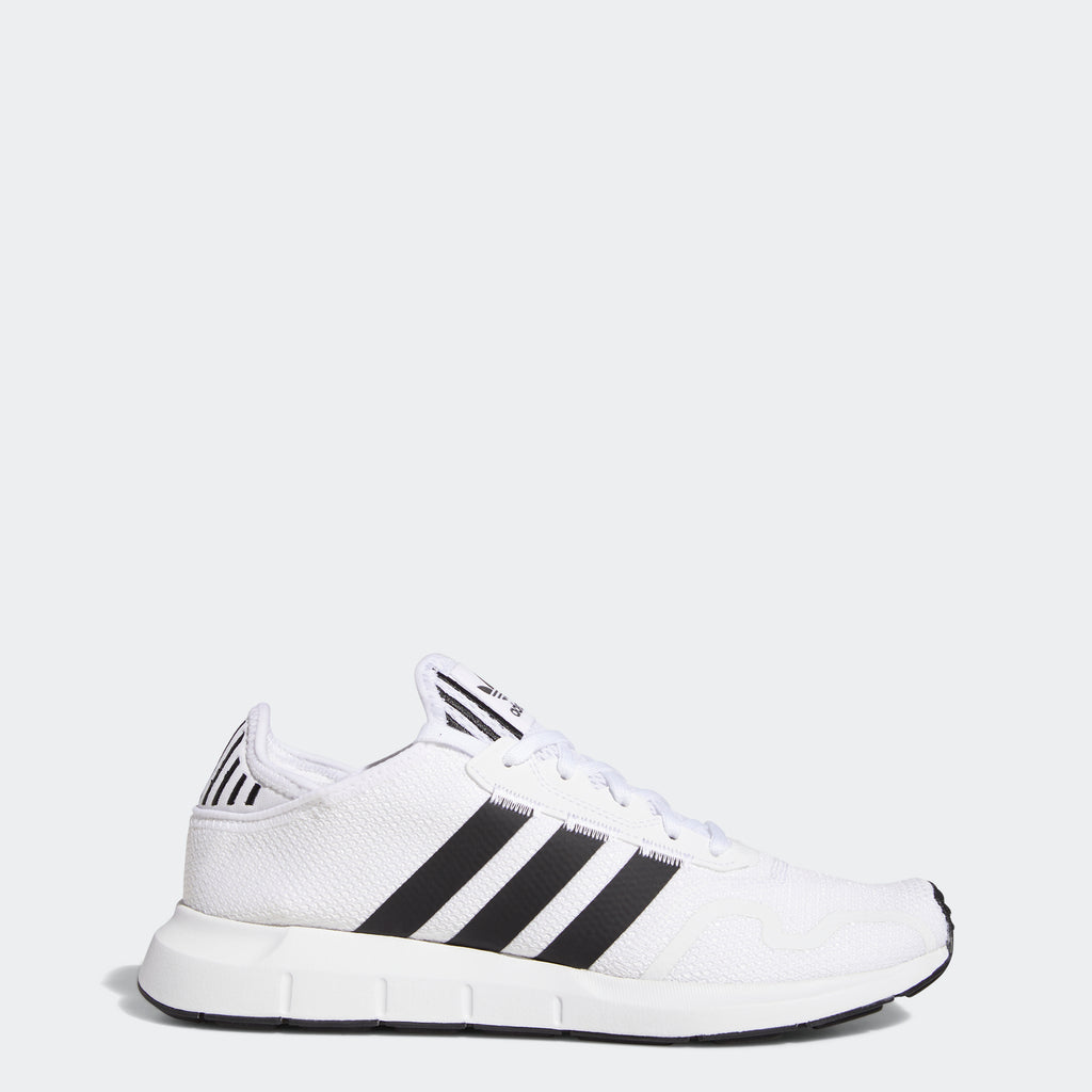 adidas Swift Run X Shoes White Black FY2111 | Chicago City Sports | side view