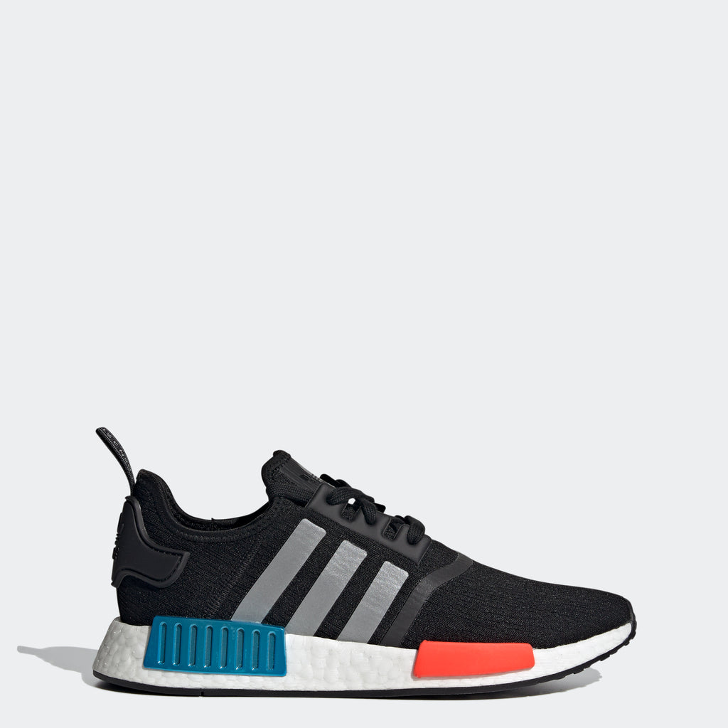 adidas Originals NMD_R1 Shoes Black RWB FY5727 | Chicago City Sports | side view