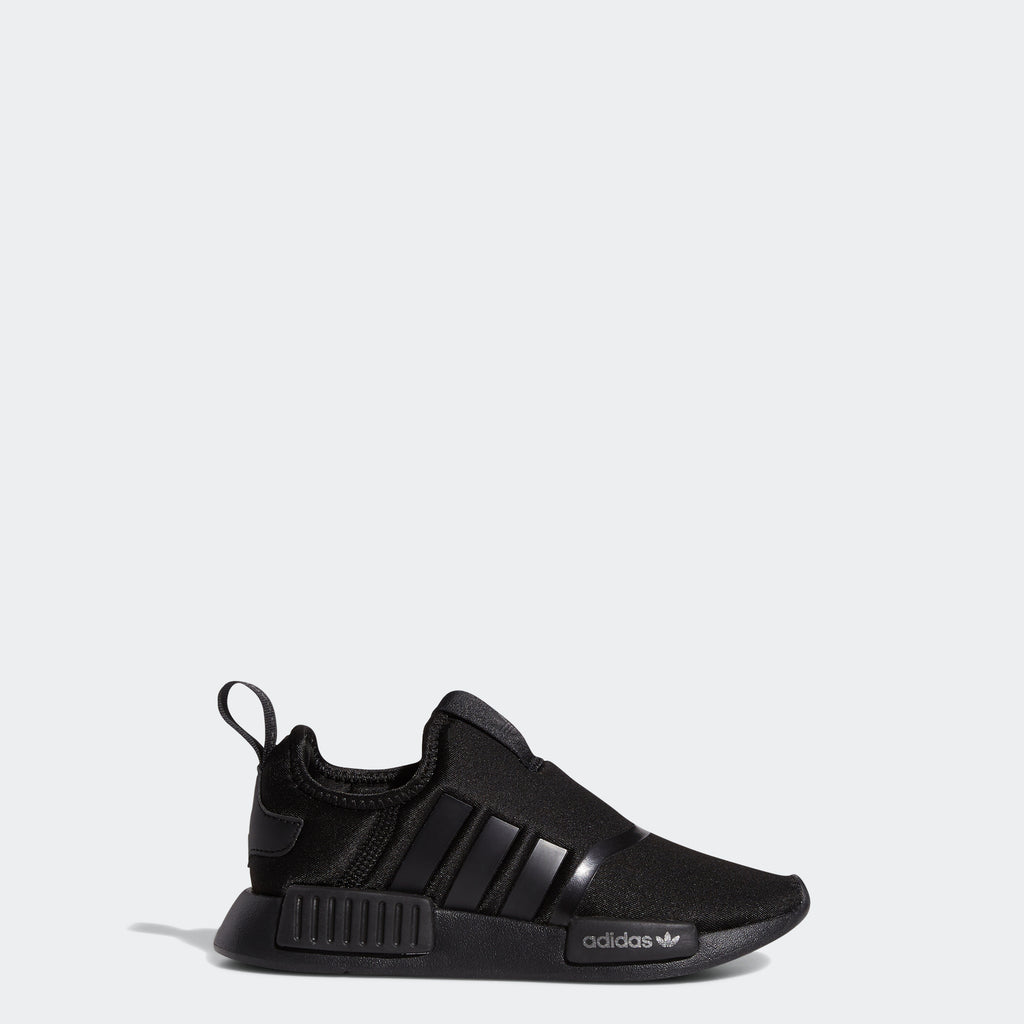 Kids' adidas NMD 360 Shoes Black H01856 | Chicago City Sports | exterior side view