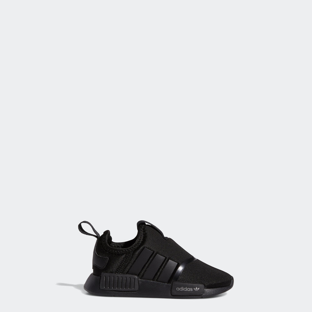 Toddlers' adidas NMD 360 Shoes Black H01857 | Chicago City Sports | side view