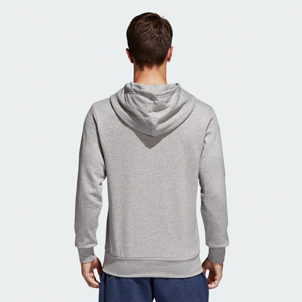 Men's adidas Essentials Badge of Sport Hoodie Grey