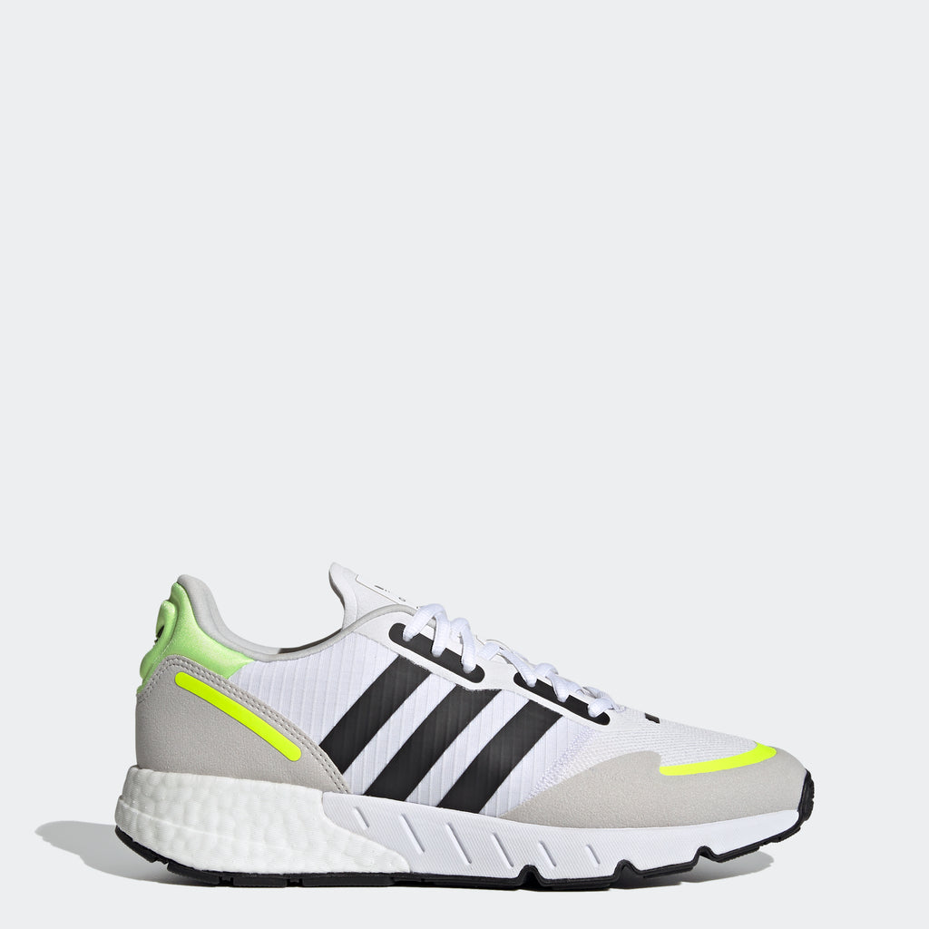 adidas ZX 1K Boost Shoes White H69037 | Chicago City Sports | side view