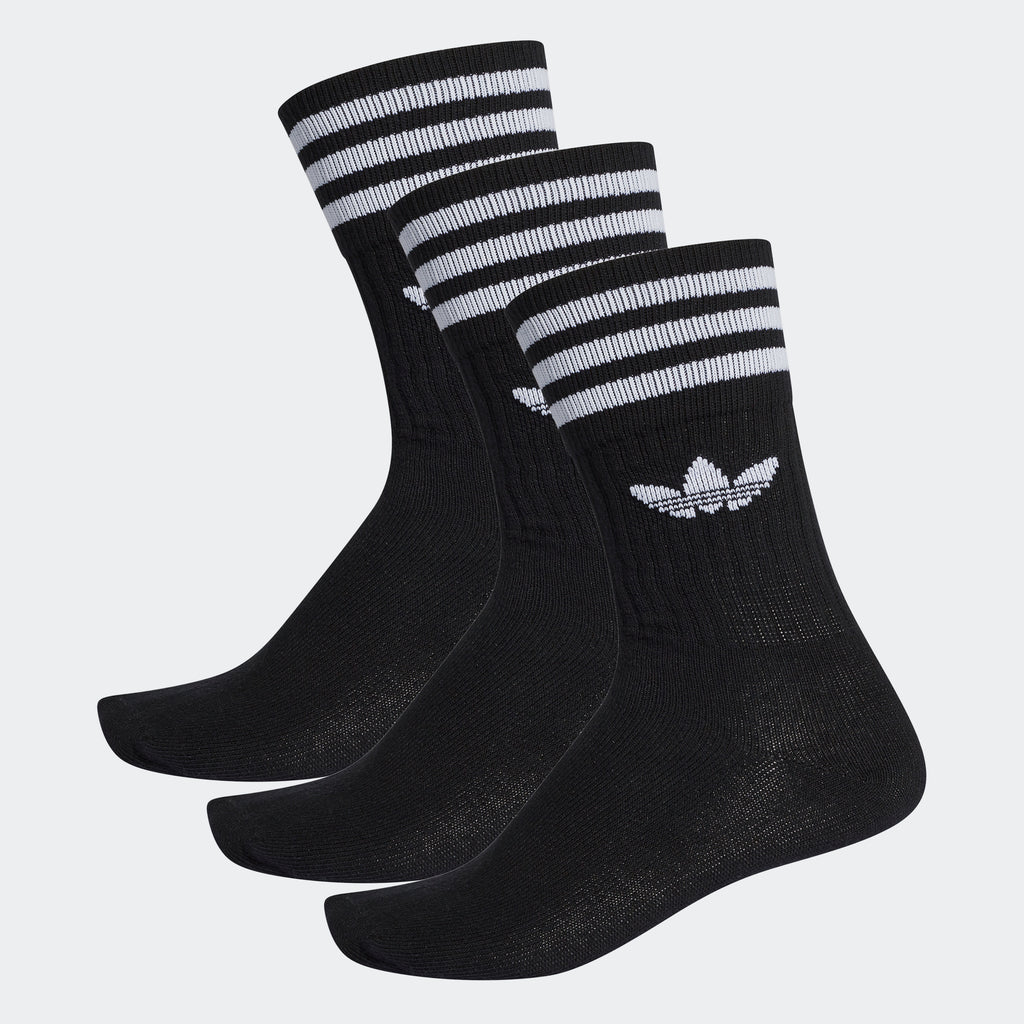 adidas Originals Solid Crew Socks 3 Pairs Black