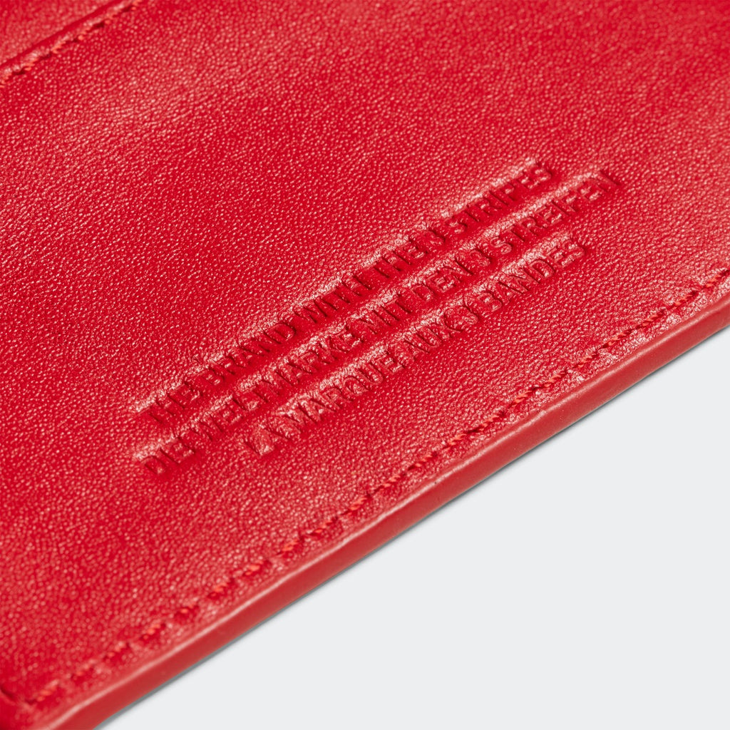 adidas Originals Leather Cardholder Scarlet Red