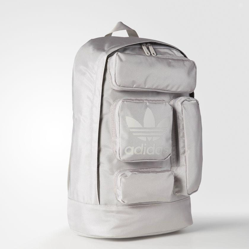 adidas Originals Multi Pocket Backpack Clear Granite