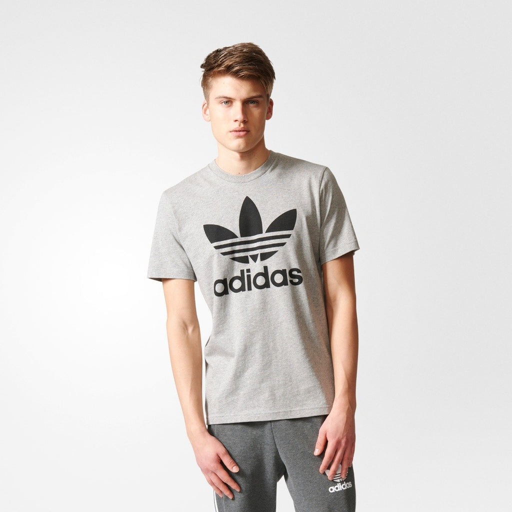 Men's Adidas Originals Trefoil Tee GRAY