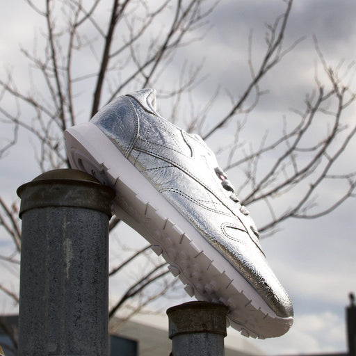 Women's Reebok Classic Leather HD Shoes Silver Metal