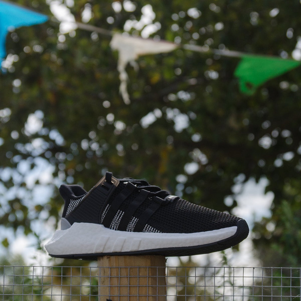 Men's adidas Originals EQT Support 93/17 Shoes Black with Cloud White