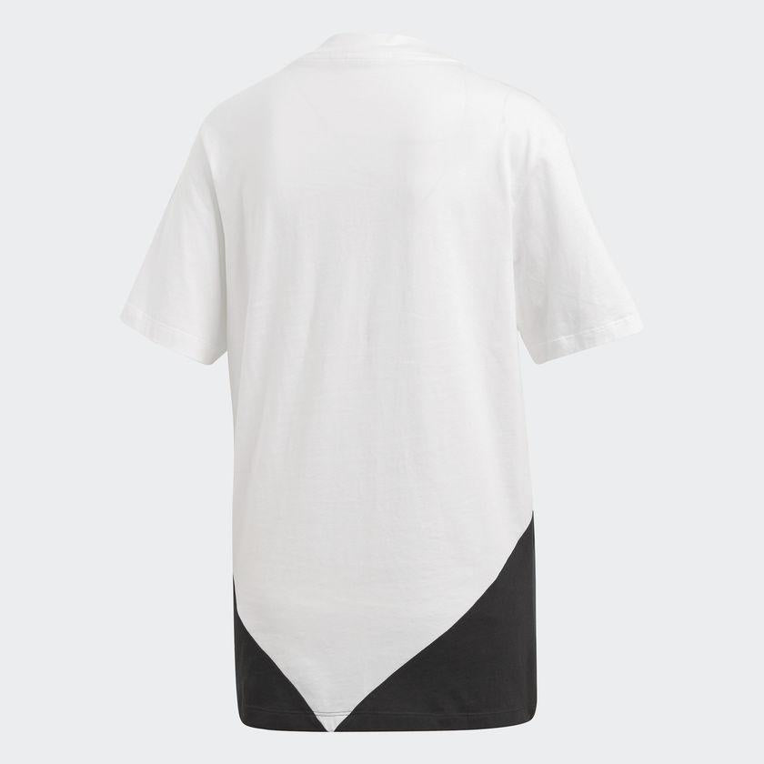 Women's adidas Originals CLRDO Tee White and Black CE1741 | Chicago City Sports | rear view