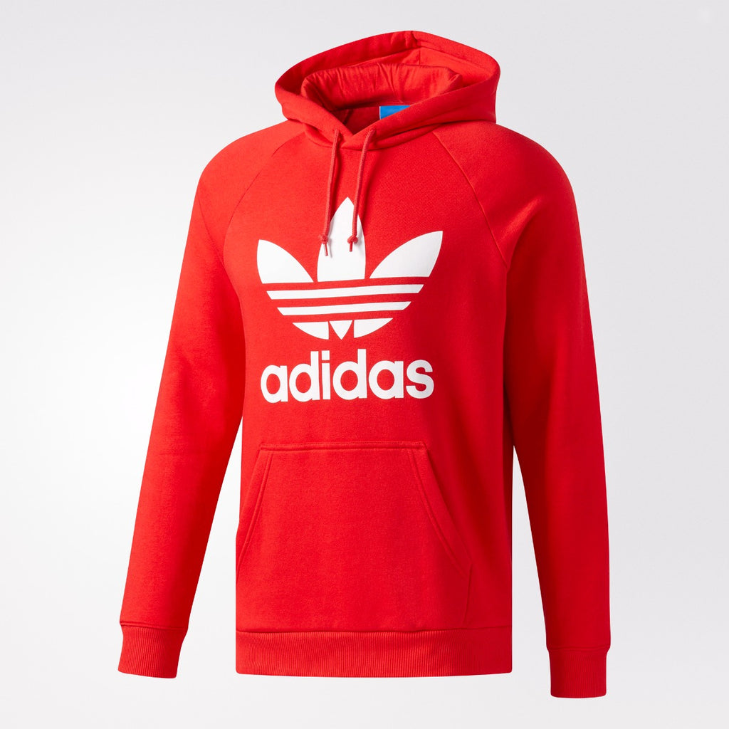Men's adidas Originals Trefoil Hoodie Vivid Red