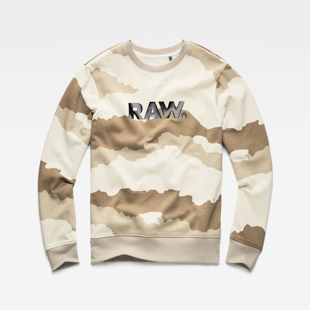 Men's G-Star RAW Graphic 19 Core Sweater Whitebait